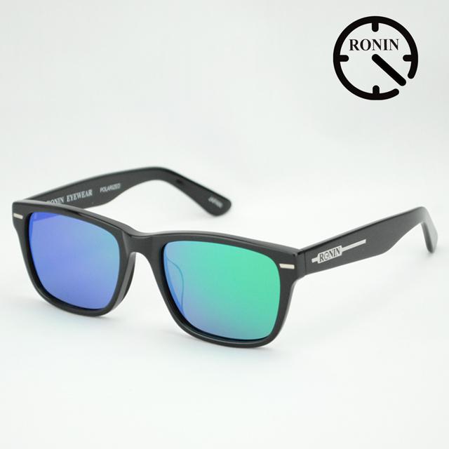 ロニン サングラスRonin Eyewear ロニンアイウェアー UVカット Type-A Shine Black / Green Mirror Polarized Lens