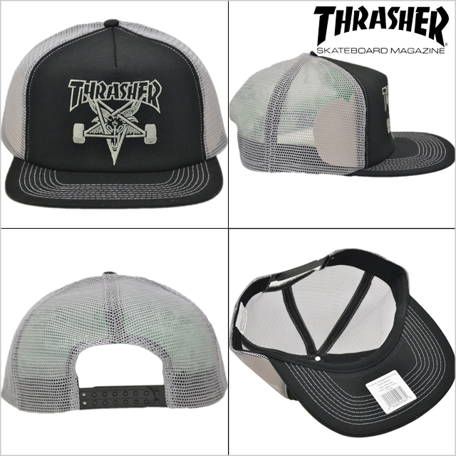 5a405aac0c2 cutback  THRASHER (Thrasher) Skate Goat Emb Mesh Cap (mesh Cap Hat ...