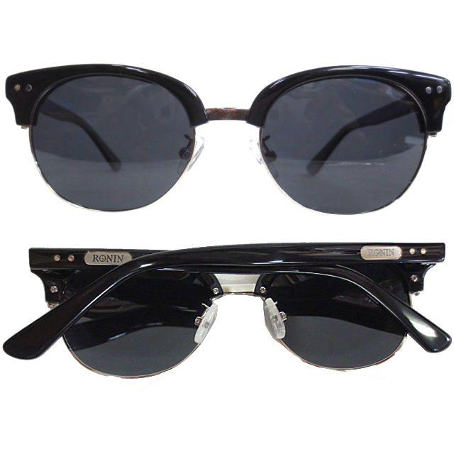 Ronin Eyewear ( ロニンアイウェアー ) 50/50 シャインブラックフレーム グレーポーラレンズ ( スケートボード スケボー サーフィン ステッカー サングラス ロニンアイウェアースケート フィフティーフィフティー