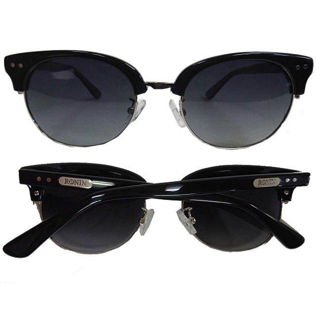 Ronin Eyewear ( ロニンアイウェアー ) 50/50 シャインブラックフレーム グレーグラデーションポーラレンズ ( スケートボード スケボー サーフィン ステッカー サングラス ロニンアイウェアースケート フィフティーフィフティー