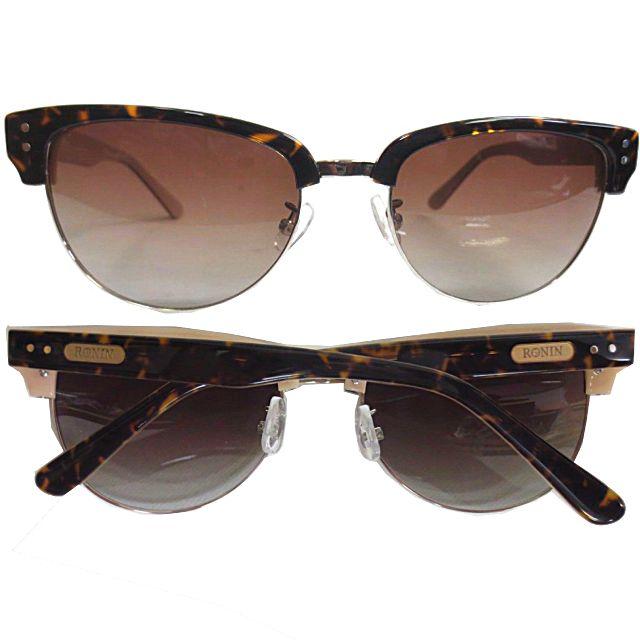 Ronin Eyewear ( ロニンアイウェアー ) 50/50 ミディアム ベッコウツートンフレーム ブラウングラデェーションポーラレンズ ( スケートボード スケボー サーフィン ステッカー サングラス ロニンアイウェアースケート フィフティーフィフティー )