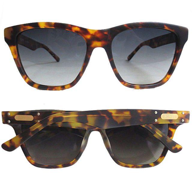 Ronin Eyewear ( ロニンアイウェアー ) Max べっ甲色フレーム グラデェーションポーラーレンズ ( スケートボード スケボー サーフィン ステッカー サングラス ロニンアイウェアースケート マックス )