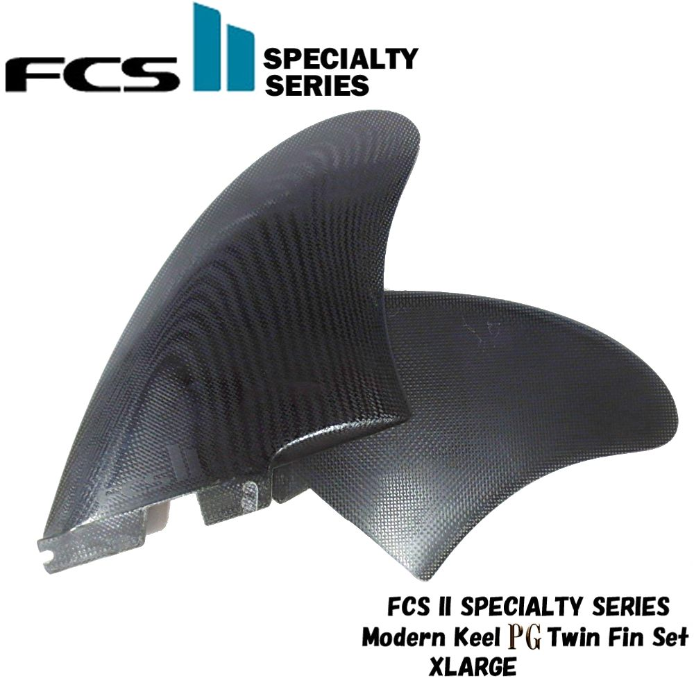 FCS2 FINサーフィン フィン エフシーエスSpecialty Series Modern Keel PG Twin Fin Set Black XL