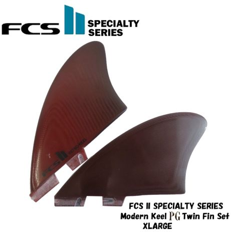 FCS2 FINサーフィン フィン エフシーエスSpecialty Series Modern Keel PG Twin Fin Set Red XL