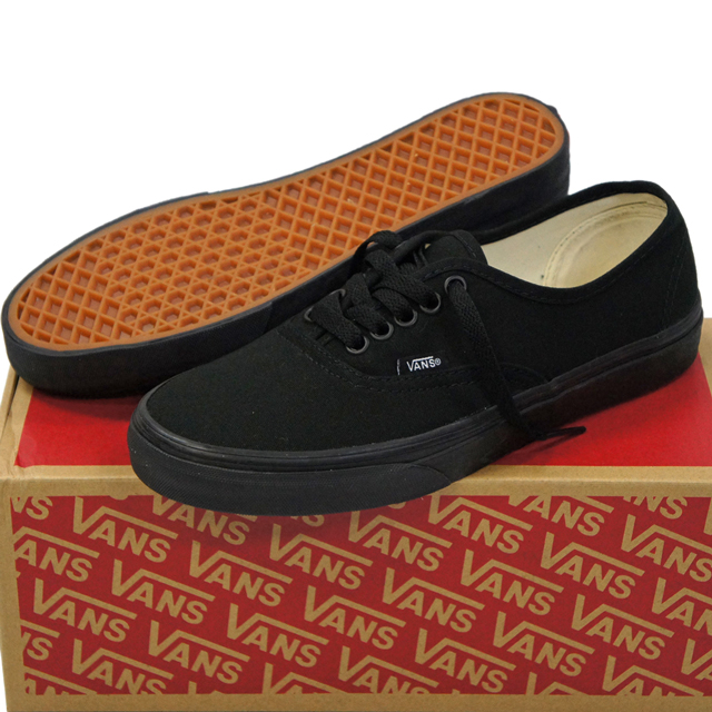 cutback  VANS (vans) Classic Authentic Black Black (skateboard ... 3414607bd