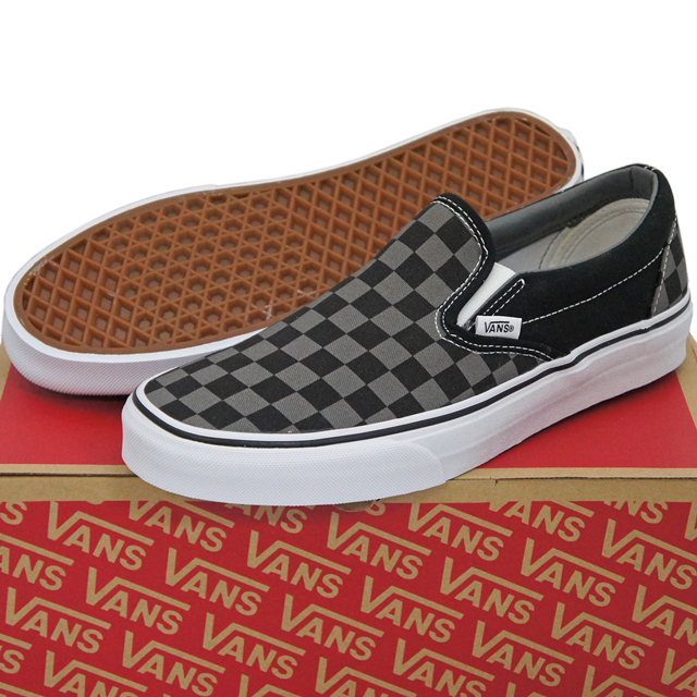f5108d497e2bb Vans vans shoes sneakers slip-ons Classic Slip-On Black/Pewter Checkerboard  23-30cm station wagons skateboarding skateboard classical music canvas  check USA ...
