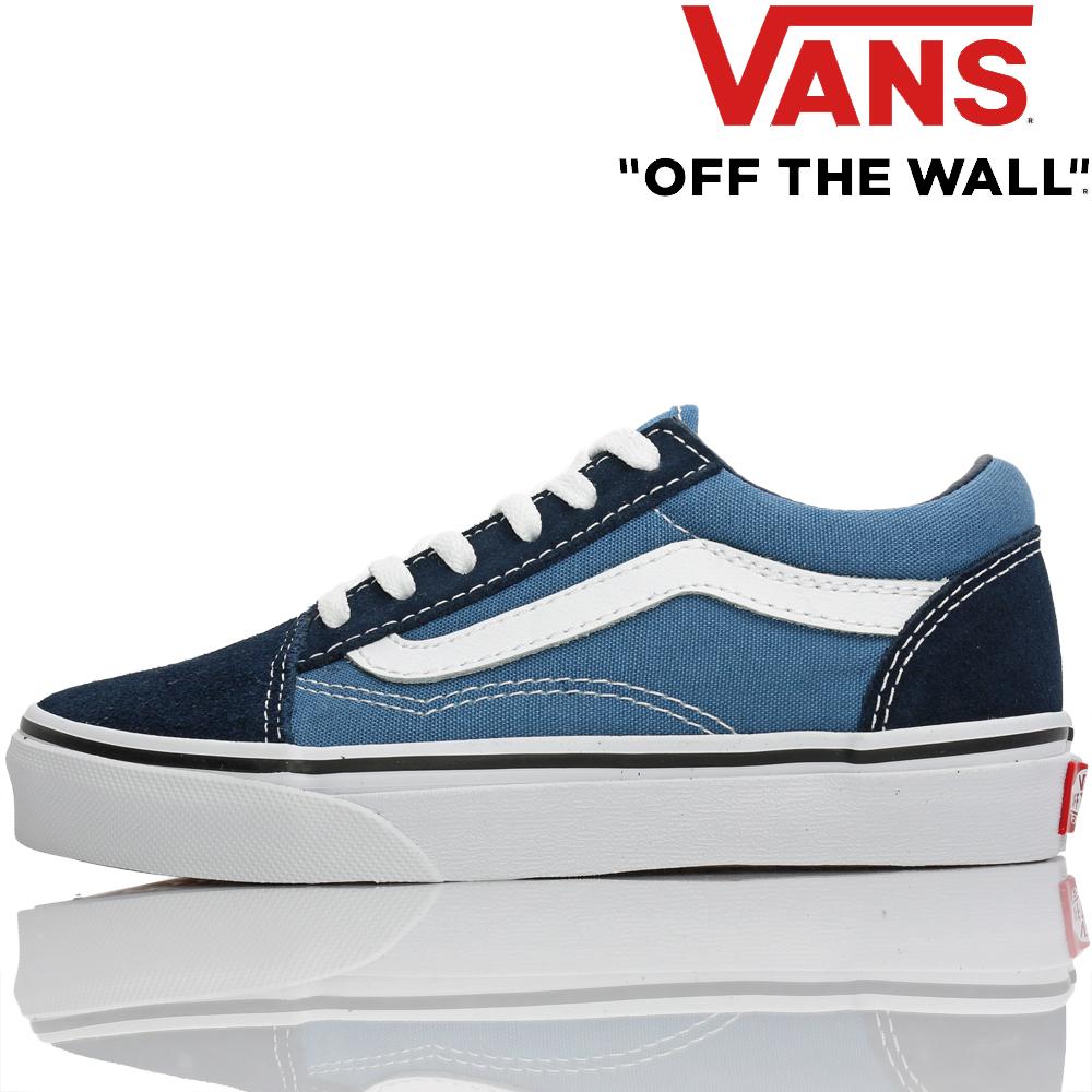 Vans vans kids sneakers Kids Old Skool Navy True White 18.5 22cm old school station wagons child shoes shoes