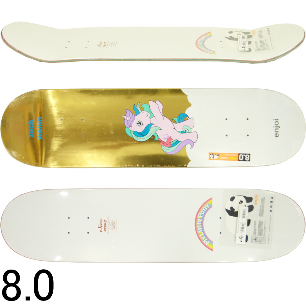 ENJOI エンジョイ スケボー スケートボード デッキ My Little Pony Cool Foil WALLIN Zack Wallin Model 8.0inch