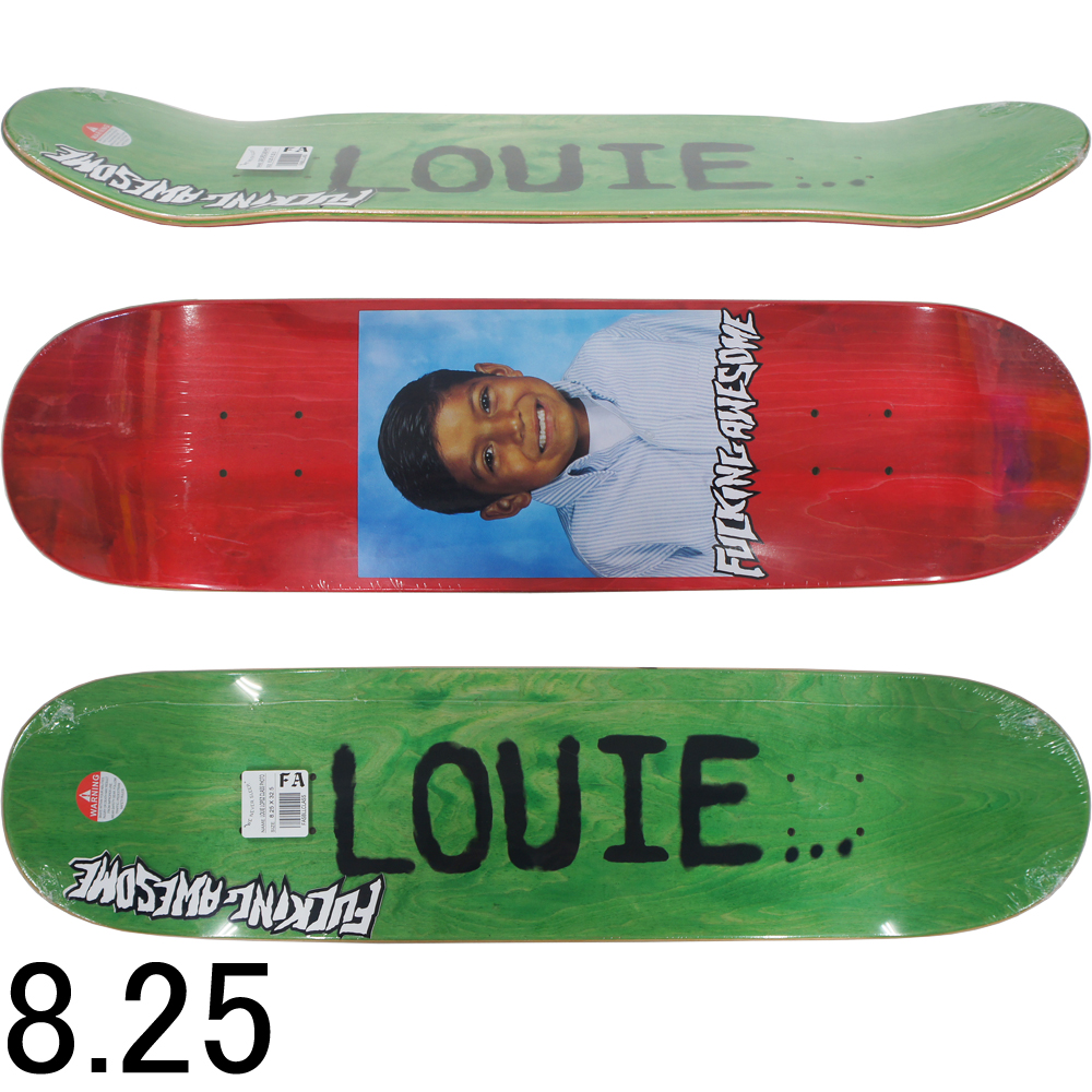 FUCKING AWESOME ファッキンオーサム スケボー スケートボード デッキ Louie Class Photo Red 8.25inch Louie Lopez Model