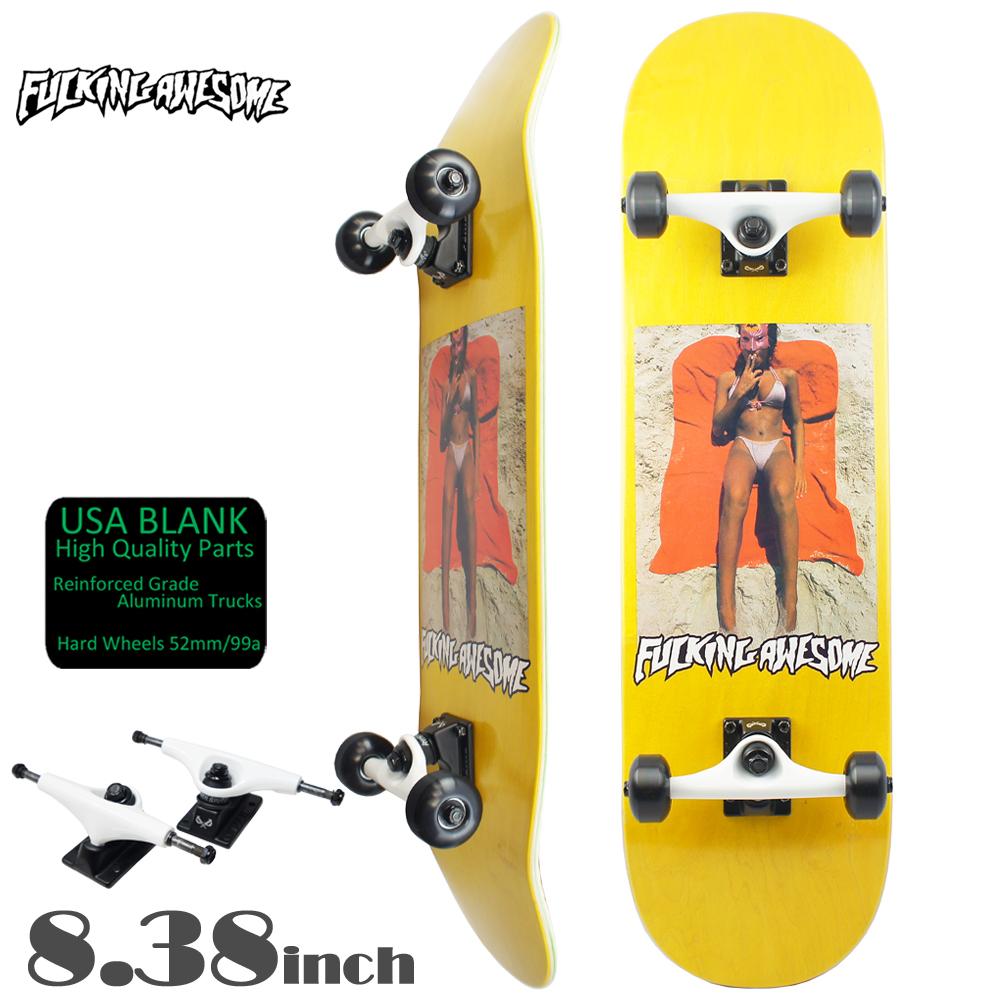 スケボー コンプリート スケートボード セット FUCKING AWESOME ファッキンオーサム COMPLETE Beach Yellow 8.38inch 初心者 おすすめ チーム モデル