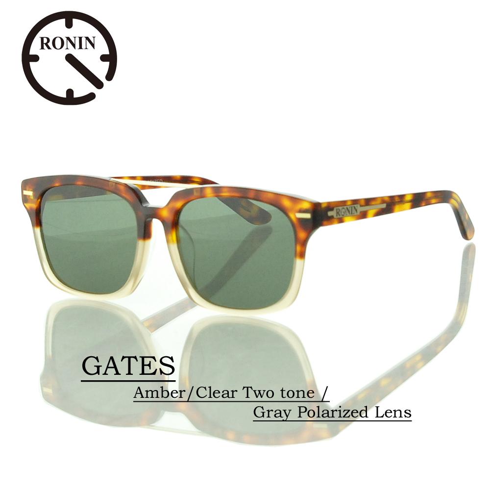 UVカット サングラス 偏光レンズRonin Eyewear ロニンアイウェアー GATES Amber/Clear Two tone / Gray Polarized Lens