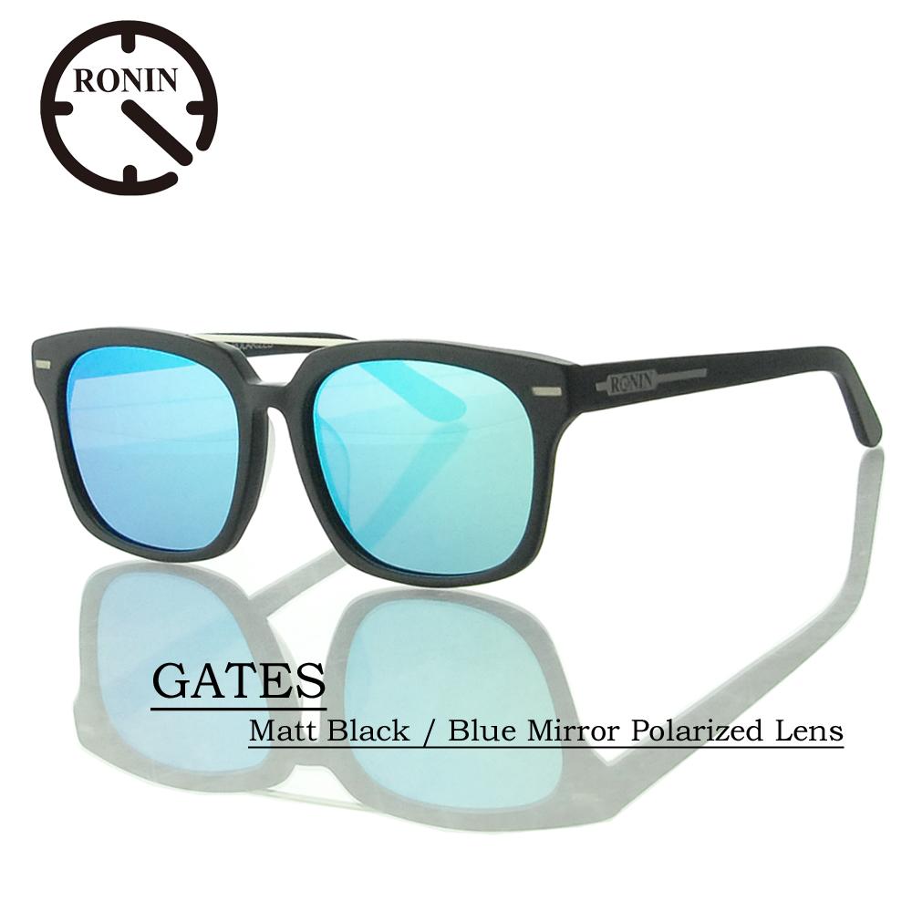 UVカット サングラス 偏光レンズRonin Eyewear ロニンアイウェアー GATES Matt Black / Blue Mirror Polarized Lens