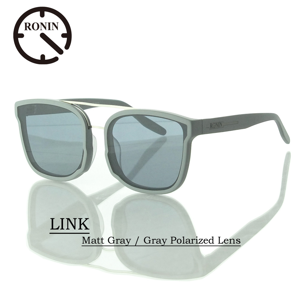 UVカット サングラス 偏光レンズRonin Eyewear ロニンアイウェアー LINK Matt Gray / Gray Polarized Lens