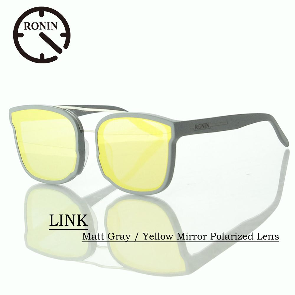 UVカット サングラス 偏光レンズRonin Eyewear ロニンアイウェアー LINK Matt Gray / Yellow Mirror Polarized Lens