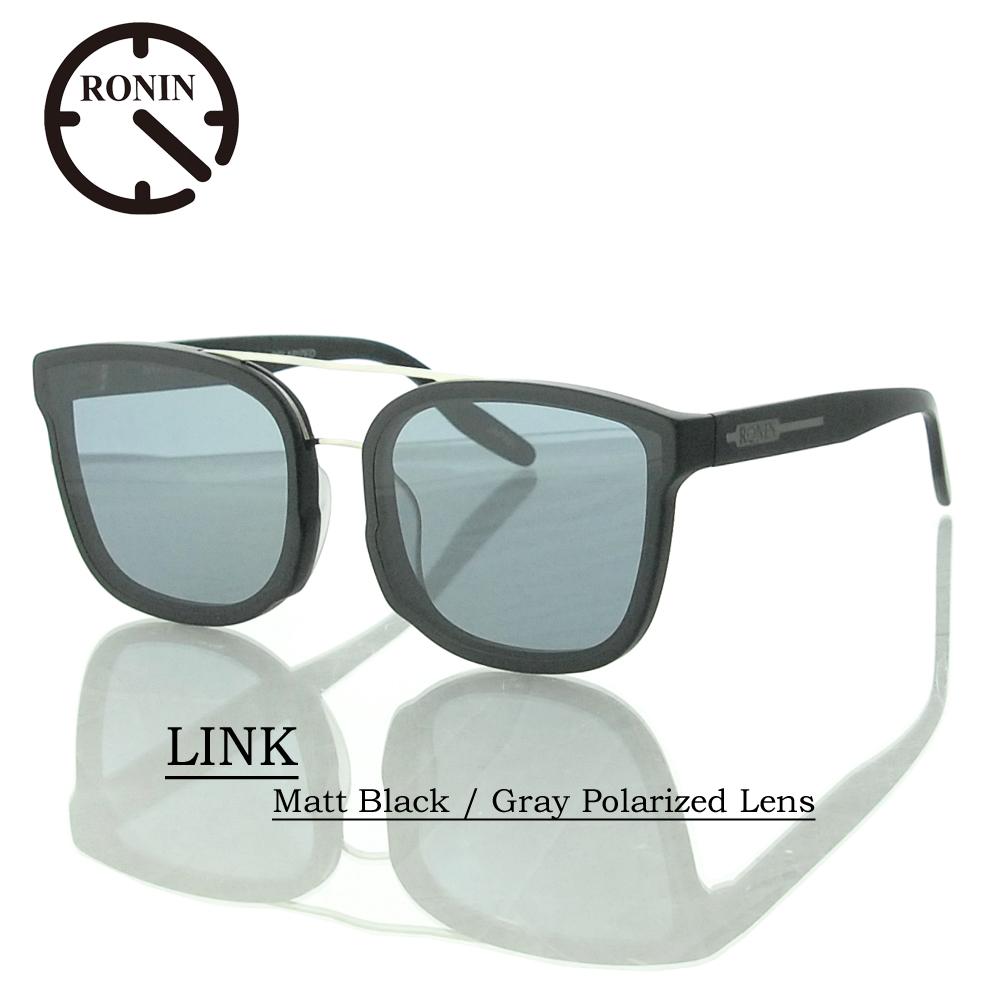 UVカット サングラス 偏光レンズRonin Eyewear ロニンアイウェアー LINK Matt Black / Gray Polarized Lens