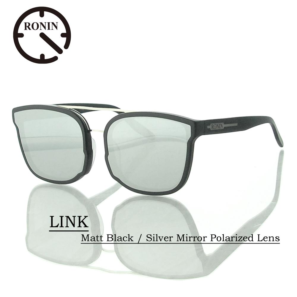 UVカット サングラス 偏光レンズRonin Eyewear ロニンアイウェアー LINK Matt Black / Silver Mirror Polarized Lens