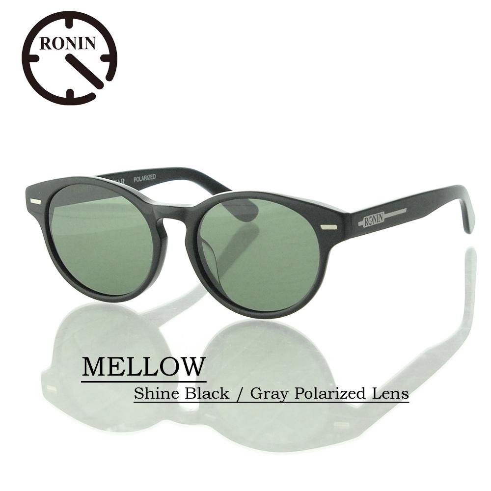 最大の割引 UVカット サングラス 偏光レンズRonin Eyewear ロニンアイウェアー MELLOW Lens Shine サングラス Black/ MELLOW Gray Polarized Lens, CARPARTS TRIADIC:42d506d1 --- totem-info.com