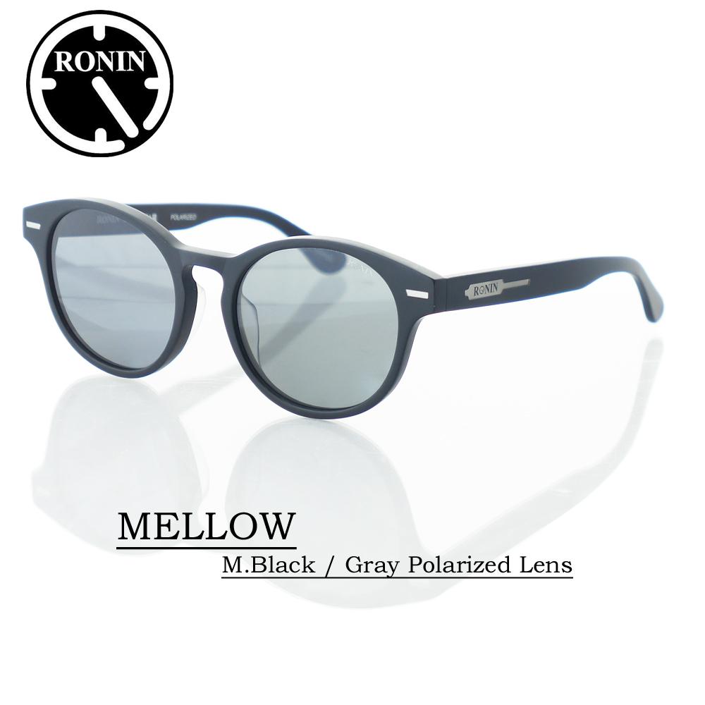 ロニン サングラス 偏光レンズRonin Eyewear ロニンアイウェアー UVカット MELLOW M.Black / Gray Polarized Lens