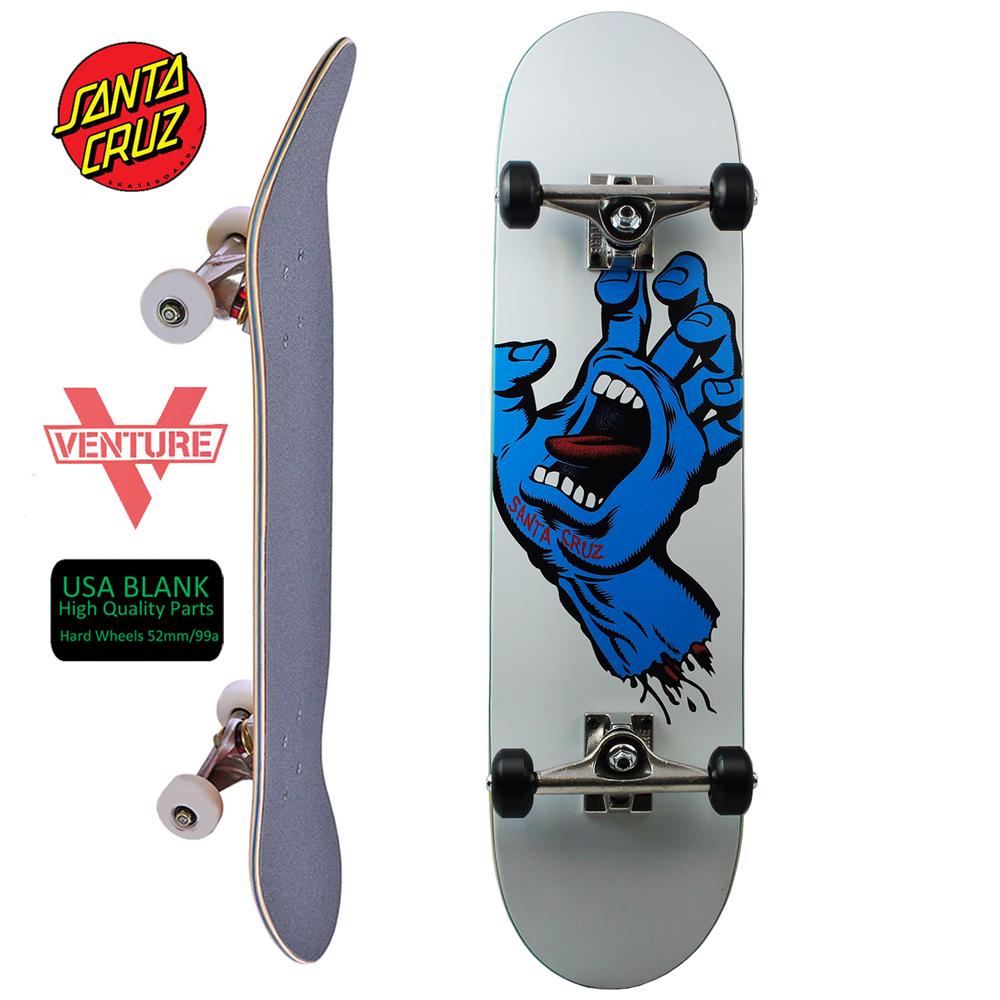 スケボー コンプリート スケートボード プレミアム セット Santa Cruz サンタクルーズ PREMIUM COMPLETE 8.0inch Screaming Hand Taper 初心者 上級者 おすすめ ベンチャー 足回り