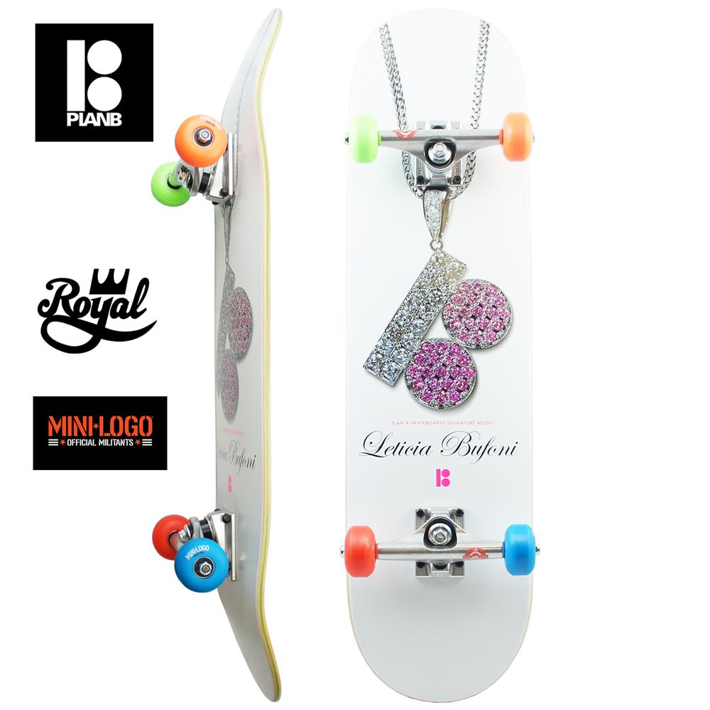 スケボー コンプリート スケートボード プレミアム PLAN B プランビー PREMIUM COMPLETE LETICIA CHAIN 8.0inch Leticia Bufoni Model初心者 上級者 おすすめ ロイヤル 足回り