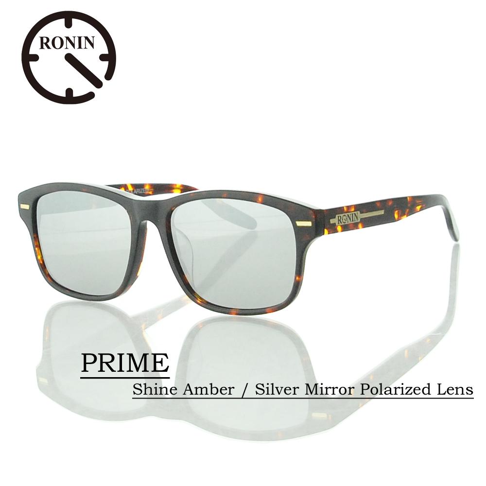 UVカット サングラス 偏光レンズRonin Eyewear ロニンアイウェアー PRIME Shine Amber / Silver Mirror Polarized Lens