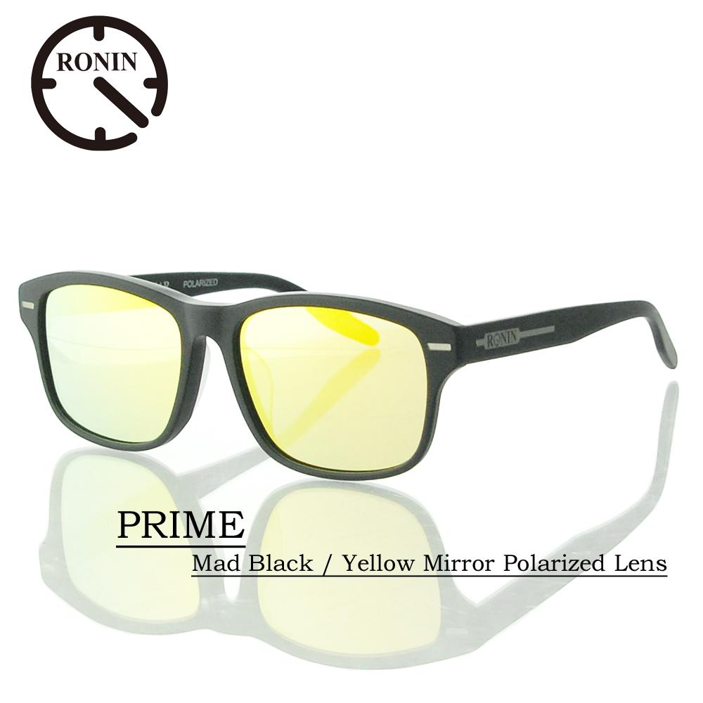UVカット UVカット サングラス 偏光レンズRonin Eyewear Mirror ロニンアイウェアー Polarized PRIME Mad Black/ Yellow Mirror Polarized Lens, Dream Pocket -ドリームポケット-:b1857bec --- jpworks.be