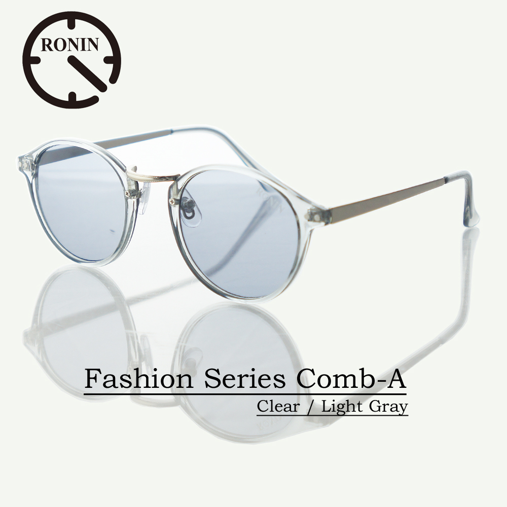 UVカット ファッション グラス Ronin Eyewear ロニンアイウェアー Fashion Series NO5336A31 Comb-A Clear / Light Gray