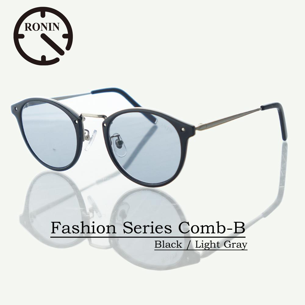 UVカット ファッション グラス Ronin Eyewear ロニンアイウェアー Fashion Series NO5099-11 Comb-B Black / Light Gray