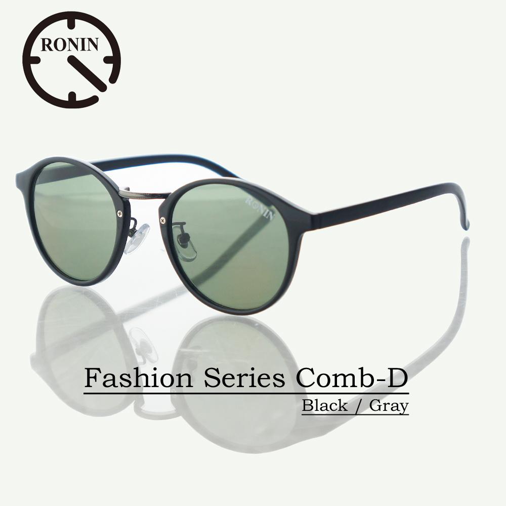 UVカット ファッション グラス Ronin Eyewear ロニンアイウェアー Fashion Series NO5465A8 Comb-D Black / Gray