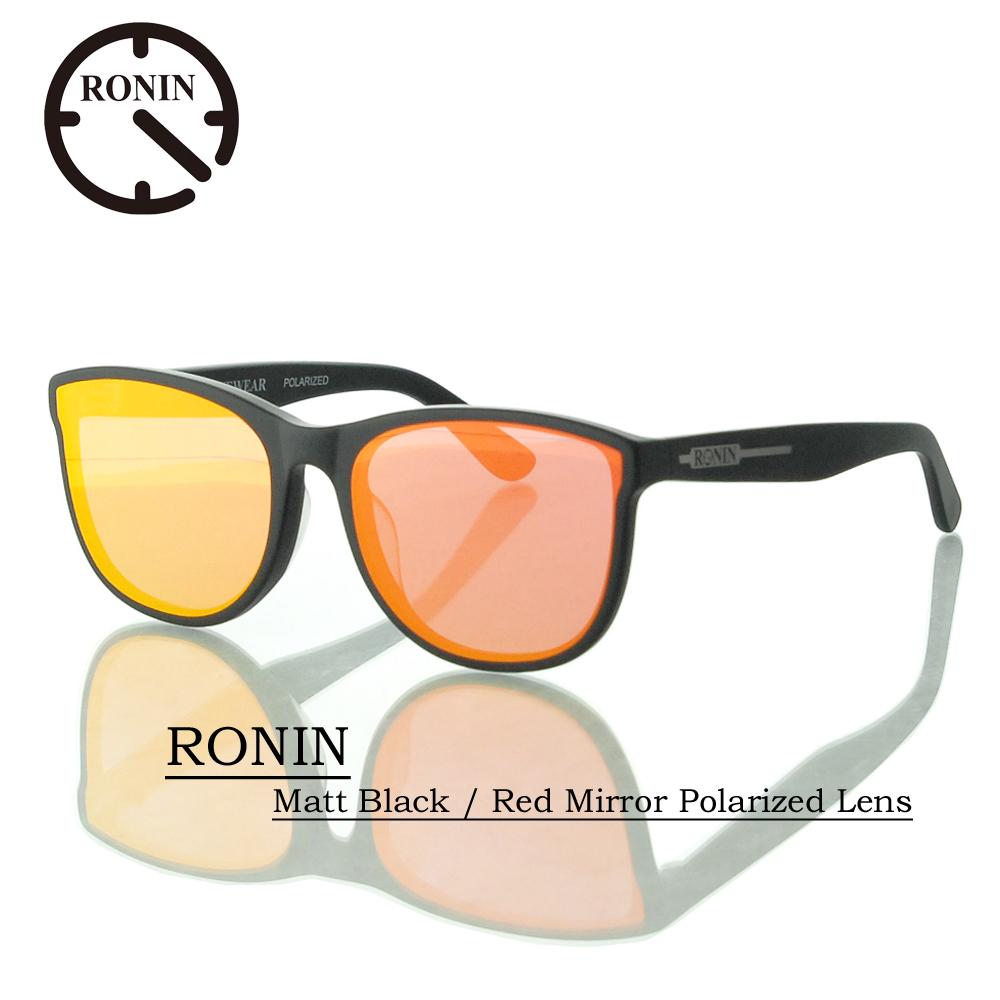 UVカット サングラス 偏光レンズRonin Eyewear ロニンアイウェアー RONIN Matt Black / Red Mirror Polarized Lens