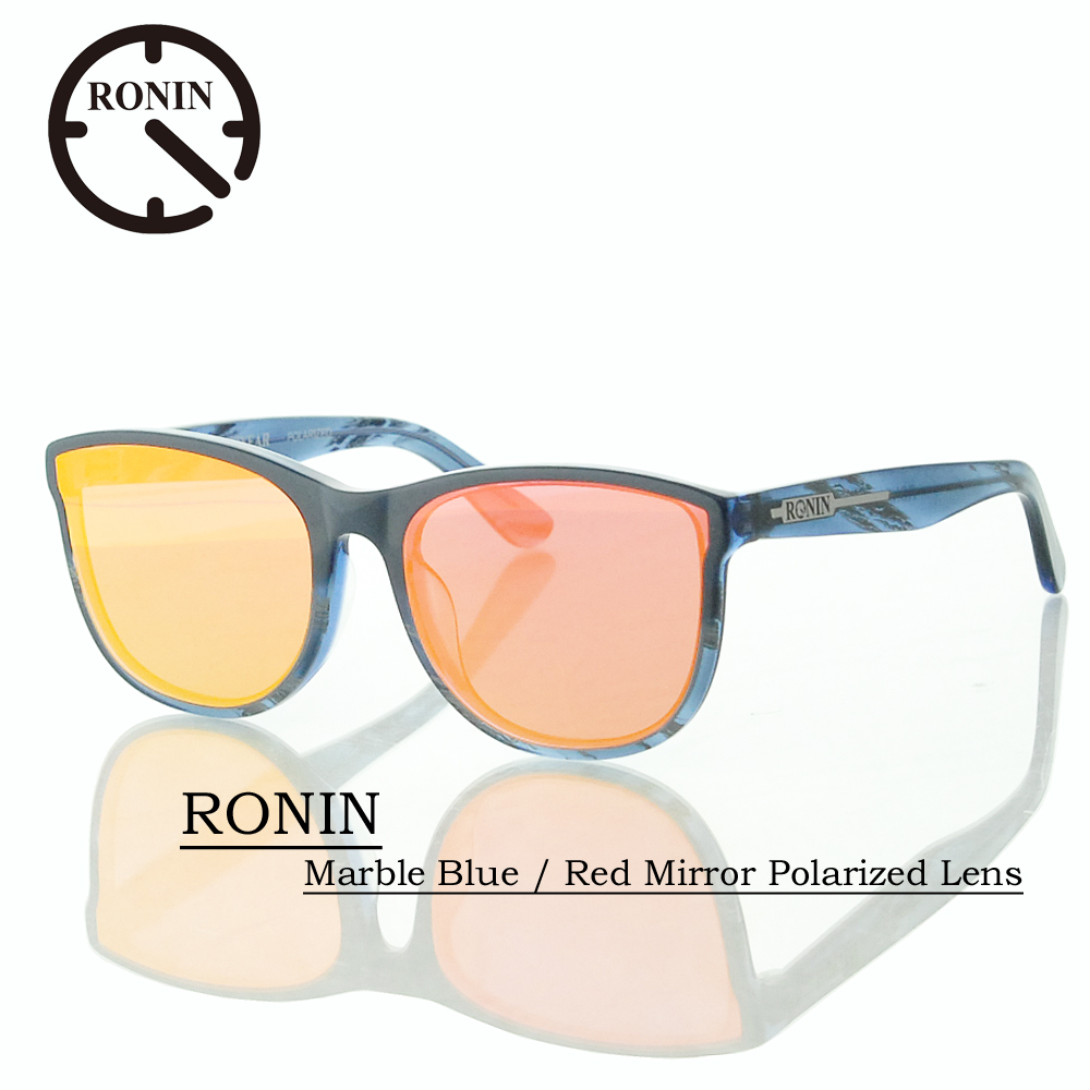 UVカット サングラス 偏光レンズRonin Eyewear ロニンアイウェアー RONIN Marble Blue / Red Mirror Polarized Lens