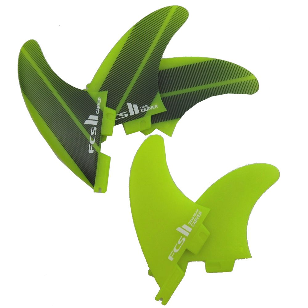 FCS2 サーフィン フィン Carver Neo Glass Try Quad 5枚セット Lサイズ LARGE 75kg~90kg
