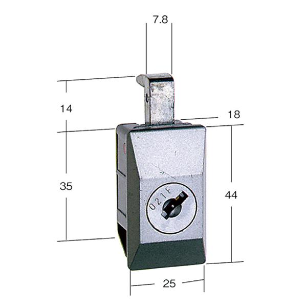 鍵 キャビネット キャビネット錠 CR-11 商い ロッカー 一般用 期間限定特価品