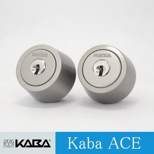 2個同一 Kabaace3250R シリンダー MIWA LSPタイプ シルバー色 02P09Jul16