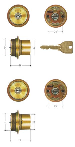 2個同一セットMIWA(美和ロック) U9シリンダー LIXタイプ MCY-464TE0 LIX 02P09Jul16