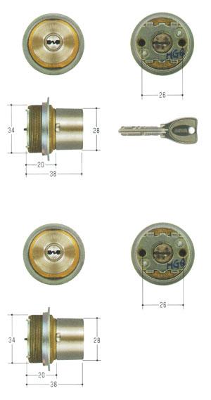 2個同一セットMIWA(美和ロック) PRシリンダー LIXタイプ MCY-467TE0 LIX 02P09Jul16