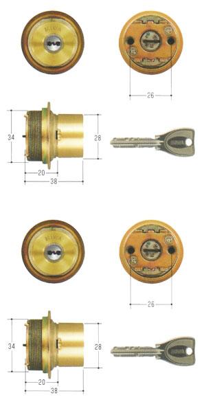 2個同一セットMIWA(美和ロック) PRシリンダー LIXタイプ MCY-498TE0 LIX 02P09Jul16