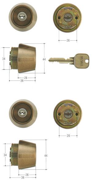2個同一セットMIWA(美和ロック) U9シリンダー LSPタイプ TE26 MCY-440LSP SWLSP 02P09Jul16