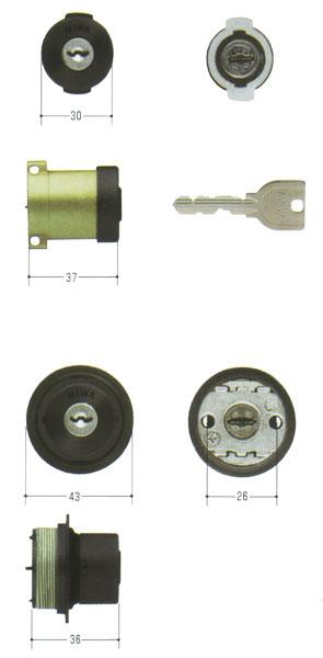 2個同一セットMIWA(美和ロック) U9シリンダー PA(DA75)タイプ+LIX(TE0)タイプ MCY-409PASP + TESP など 02P09Jul16