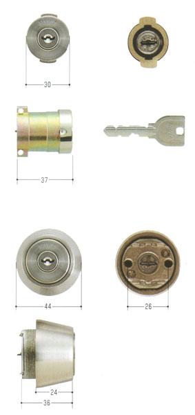 2個同一セットMIWA(美和ロック) U9シリンダー PA(DA75)タイプ+LSP(TE24)タイプ MCY-410PA + TESPなど 02P09Jul16