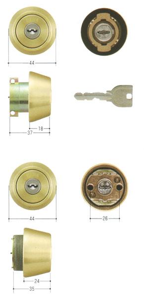 2個同一セットMIWA(美和ロック) U9シリンダー LA(DA40)タイプ+LSP(TE24)タイプ MCY-413 02P09Jul16