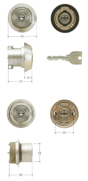 2個同一セットMIWA(美和ロック) U9シリンダー LA(DA50)タイプ+LIX(TE0)タイプ MCY-417 02P09Jul16