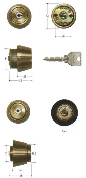 2個同一セットMIWA(美和ロック) U9シリンダー LSP(TE24)タイプ + BH(THMCYC仕様)タイプ 装飾錠向けMCY-451 02P09Jul16