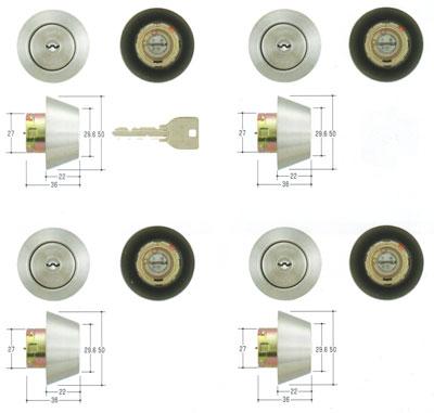 4個同一セットMIWA(美和ロック) U9シリンダー TRF(MM)タイプ MCY-220MM TRT TRF 02P09Jul16