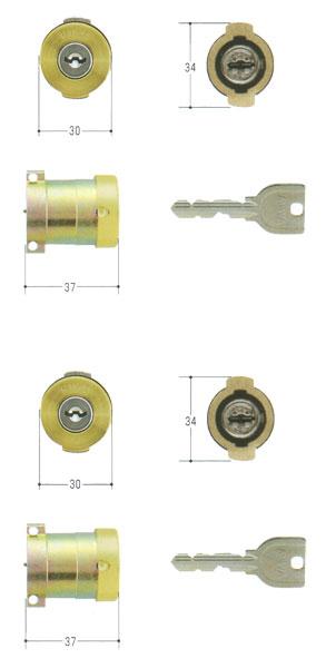 2個同一 MIWA U9シリンダー MCY-491PAタイプ PG571-HS PA・PASP 02P09Jul16