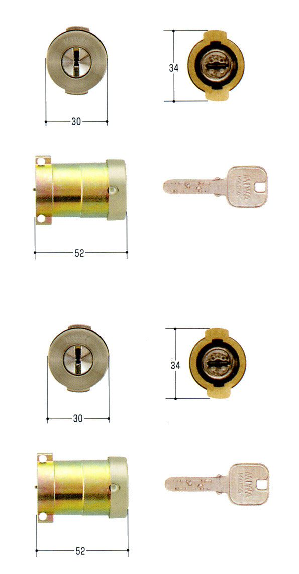 MIWA(美和ロック) JNシリンダー PAタイプ PG701-HS 2個同一セットMCY-488PA・PASP 02P09Jul16