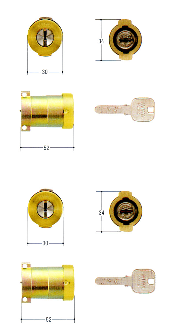 MIWA(美和ロック) JNシリンダー PAタイプ PG701-HS 2個同一セットMCY-489PA・PASP 02P09Jul16