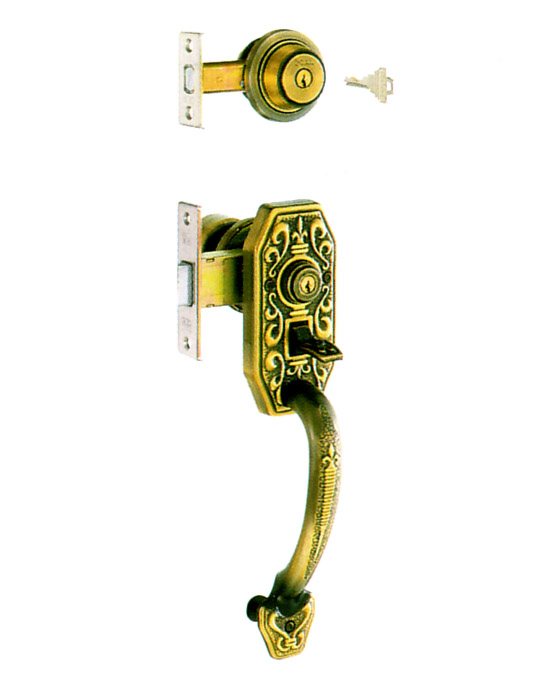 YKK 玄関 GOAL AD + GF サムラッチハンドル錠 GB-49  ドアノブ GB49ゴール AD GF 02P09Jul16