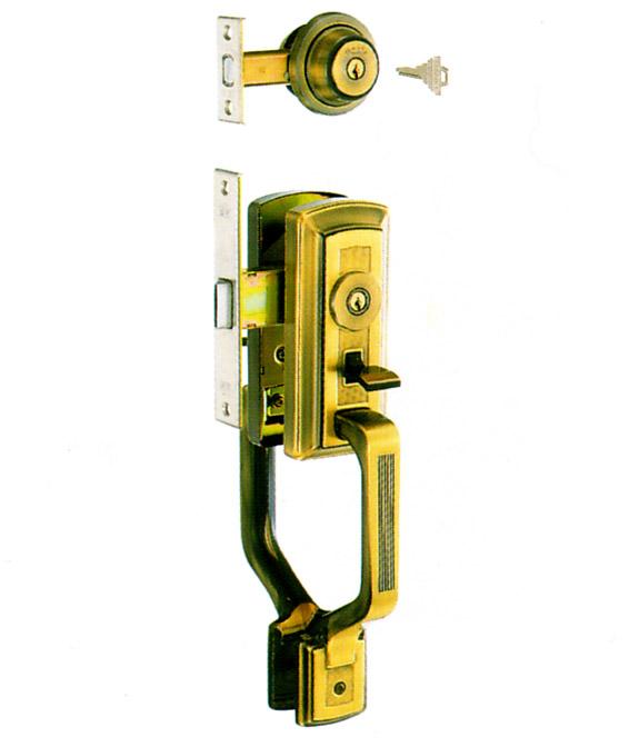 YKK 玄関 GOAL AD + GF サムラッチハンドル錠 GB-51  ドアノブ GB51ゴール AD GF 02P09Jul16