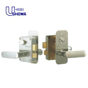 SHOWA 7680L 面付箱錠 レバーハンドル型 NXシリンダー  ドアノブ 7680E、7680KJ(要加工)から の取替えに対応ショウワ 7680L 02P09Jul16